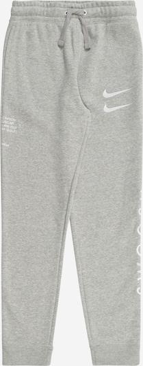Nike Sportswear Broek in de kleur Grijs gemêleerd / Wit, Productweergave