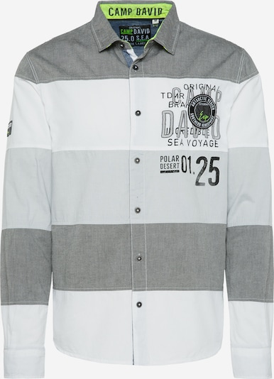 CAMP DAVID Button Up Shirt in Grey / White, Item view