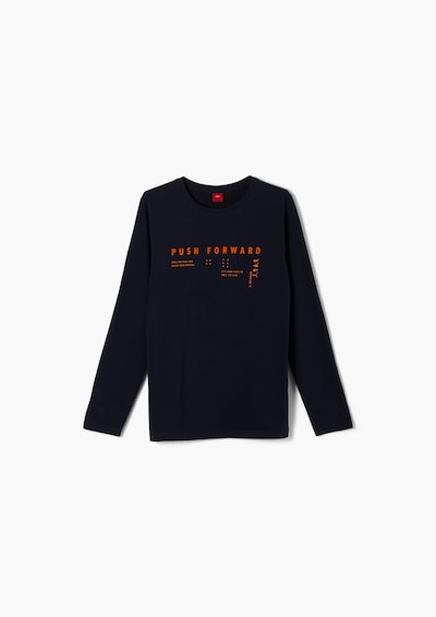 s.Oliver Shirt in navy / orange, Produktansicht