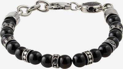 DIESEL Bracelet en gris argenté / noir, Vue avec produit