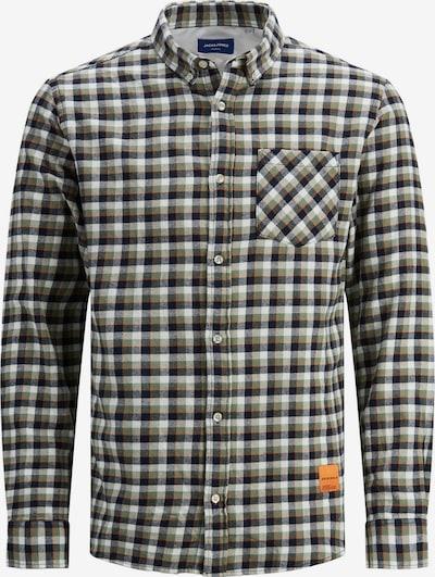 JACK & JONES Overhemd in de kleur Navy / Groen / Sinaasappel / Wit, Productweergave