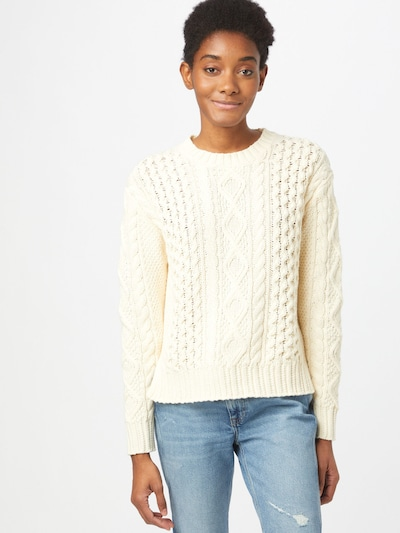 POLO RALPH LAUREN Sweater 'BOXY' in Cream: Frontal view