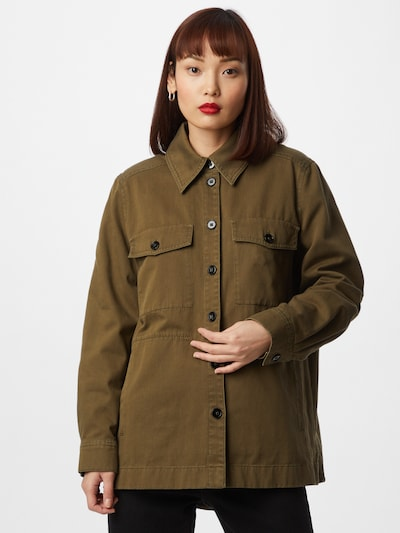 DRYKORN Bluse 'NATHEN' in grün, Modelansicht