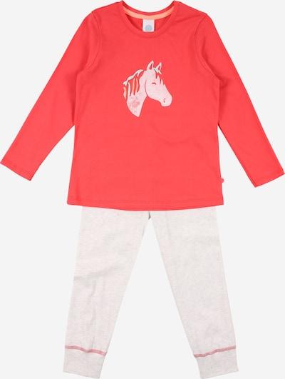 SANETTA Pyjama in hellgrau / himbeer, Produktansicht