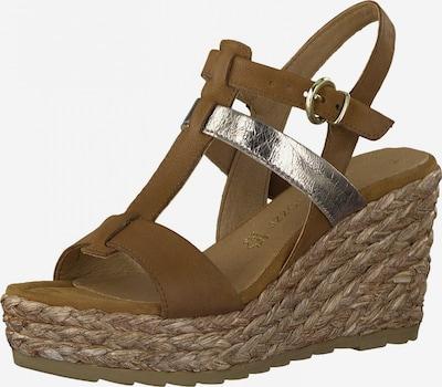 MARCO TOZZI Sandales à lanières en marron / argent, Vue avec produit