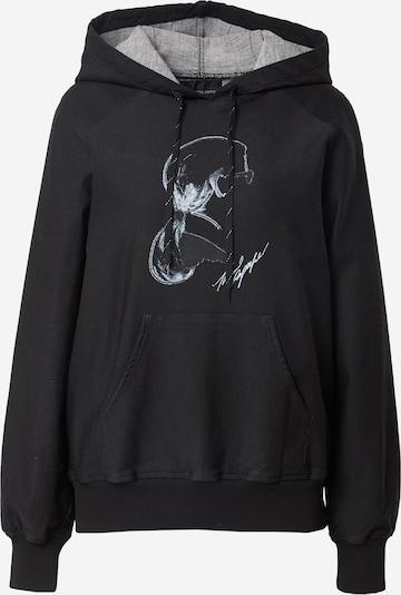 Felpa Karl Lagerfeld Denim di colore nero denim / bianco, Visualizzazione prodotti