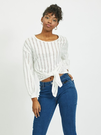 VILA Blouse in de kleur Wit, Modelweergave