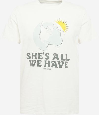 Tricou 'All We Have ' DEDICATED. pe azur / galben / gri / alb murdar, Vizualizare produs