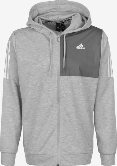 ADIDAS PERFORMANCE Veste de survêtement en gris clair / gris foncé / blanc, Vue avec produit