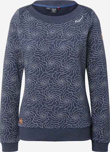Ragwear Sweatshirt 'TASHI' in dunkelblau / weiß, Produktansicht