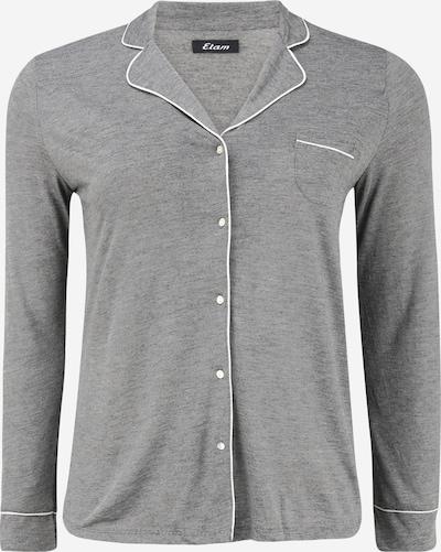ETAM Chemise de nuit 'WARM DAY' en gris chiné / blanc, Vue avec produit