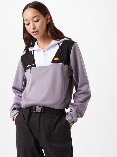 ELLESSE Sweat-shirt 'Fetida' en lilas / noir / blanc, Vue avec modèle