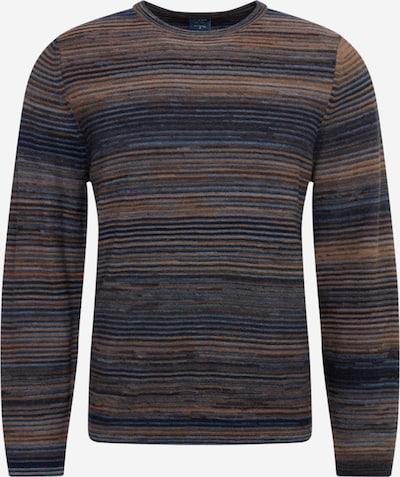 OLYMP Sweater in navy / night blue / light brown, Item view