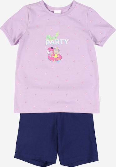 SCHIESSER Pyžamo 'Cat Zoe' - námornícka modrá / kiwi / orgovánová / ružová / biela, Produkt