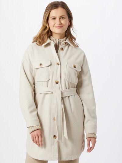 Rudeninis-žieminis paltas iš PIECES , spalva - margai balta, Modelio vaizdas