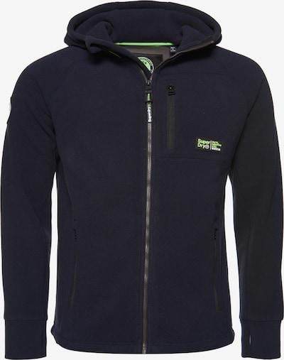 Superdry Fleece jas in de kleur Marine, Productweergave