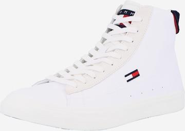 balts Tommy Jeans Augstie brīvā laika apavi