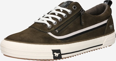 MUSTANG Sneaker in dunkelgrün / weiß, Produktansicht