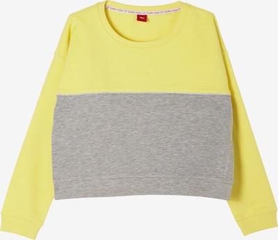 s.Oliver Sweater majica u žuta / siva, Pregled proizvoda