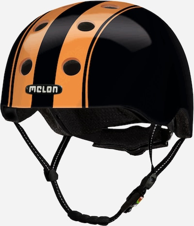 Melon Helm in orange / schwarz, Produktansicht