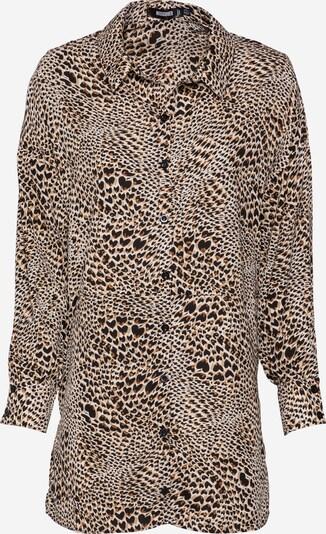 Missguided Košulja haljina u smeđa / cappuccino / crna / bijela, Pregled proizvoda