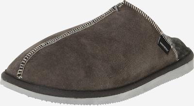 SHEPHERD OF SWEDEN Pantoufle 'Hugo' en taupe / gris foncé, Vue avec produit