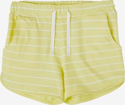 NAME IT Broek 'VAMAJA' in de kleur Geel / Wit, Productweergave