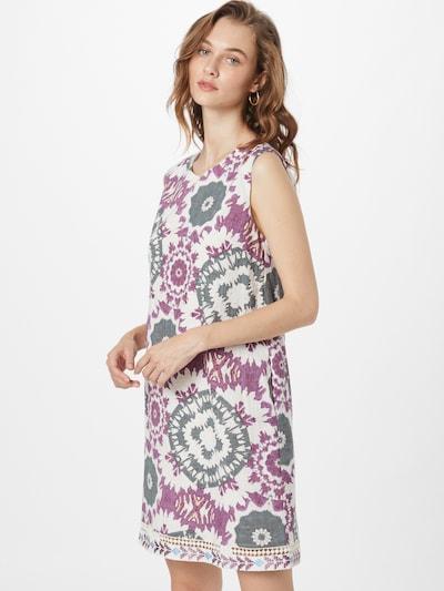 Derhy Robe d'été 'CALIGULA' en bleu-gris / violet / blanc, Vue avec modèle