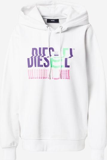 DIESEL Sweat-shirt en menthe / violet foncé / rose / blanc, Vue avec produit