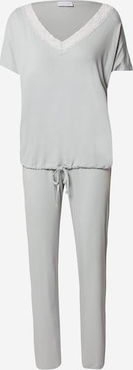 LASCANA Pyjama en gris clair / blanc, Vue avec produit