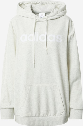 ADIDAS PERFORMANCE Sport sweatshirt i vit / vitmelerad, Produktvy