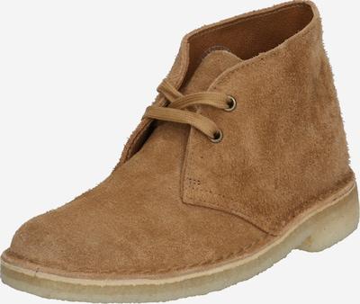 Pantofi cu șireturi Clarks Originals pe maro deschis, Vizualizare produs