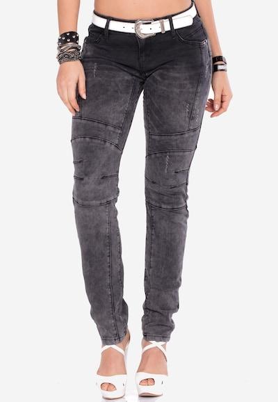 CIPO & BAXX Jeans in de kleur Zwart, Modelweergave