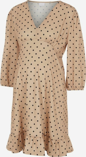 MAMALICIOUS 'MLCELINA' Umstandsminikleid in beige / schwarz, Produktansicht