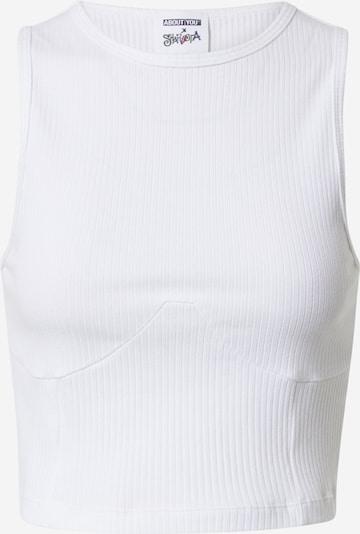 ABOUT YOU x Sharlota Top 'Marie' | bela barva, Prikaz izdelka