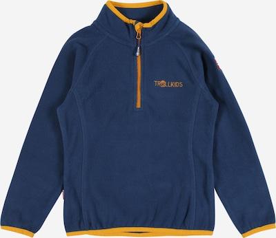 TROLLKIDS Functionele fleece jas 'Nordland' in de kleur Blauw / Goudgeel, Productweergave