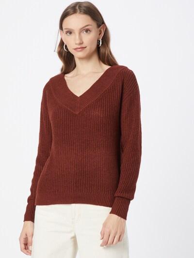ONLY Pullover 'Melton' in braun, Modelansicht