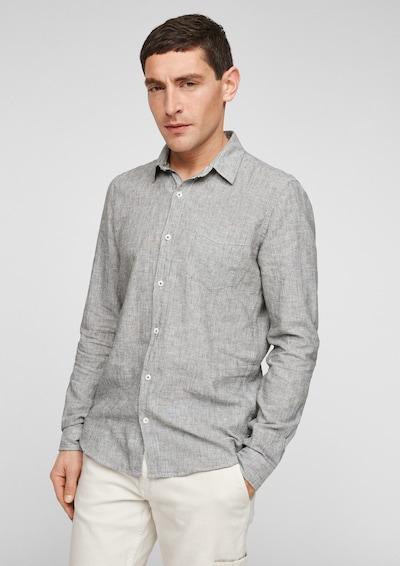 s.Oliver Overhemd in de kleur Kaki: Vooraanzicht