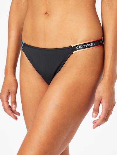 Calvin Klein Swimwear Bikinibroek 'CHEEKY' in de kleur Blauw / Sinaasappel / Zwart / Wit, Modelweergave