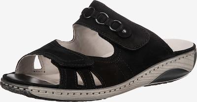WALDLÄUFER Pantoletten in schwarz, Produktansicht