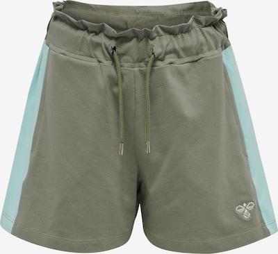 Hummel Pantalon 'Sunny' en bleu / kaki, Vue avec produit