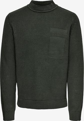 Only & Sons Pullover 'Blaze' in Grün