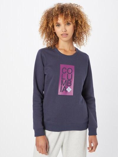 COLUMBIA Sportsweatshirt in nachtblau / eosin / weiß: Frontalansicht