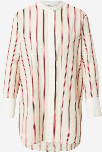 Masai Bluse 'Iris' in creme / grau / rot / weiß, Produktansicht