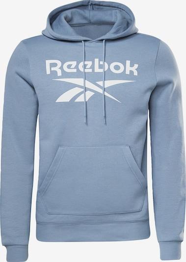 Reebok Sport Sportsweatshirt 'Identity' in de kleur Blauw / Wit, Productweergave