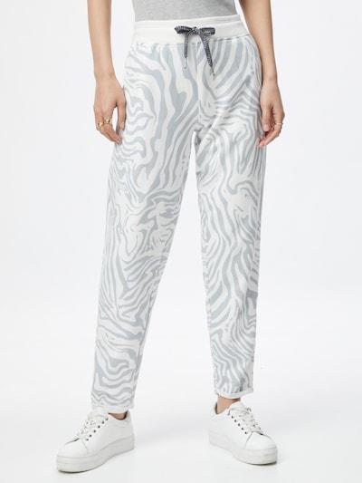 Key Largo Pantalon en argent / blanc, Vue avec modèle