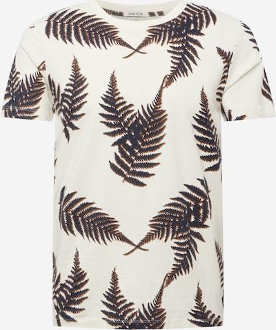 TOM TAILOR DENIM T-shirt i ljusbeige / mörkblå / brun, Produktvy