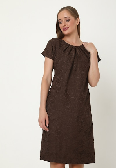 Madam-T Kleid 'BALASHA' in braun, Modelansicht