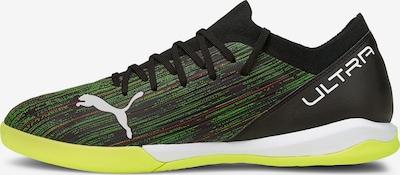 PUMA Fußballschuh in hellgrün / kirschrot / schwarz / weiß, Produktansicht