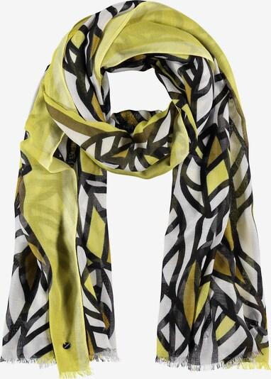 SAMOON Schal mit Blätter-Print in oliv / hellgrün, Produktansicht